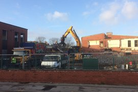 Rear of North Building - Demolition well underway.