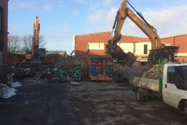 Rear of North Building - Materials being separated ready for recycling.