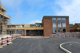 New Entrance Area, car parking for South Buildings leading to Reception and Dining Area