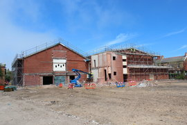 Sports Hall and Memorial Hall - precision demolition and diamond cutting to preserve key features