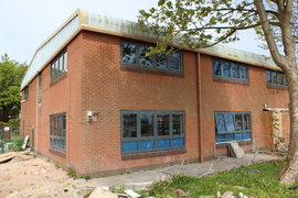 Design Technology Block - New window frames and obscure glass throughout