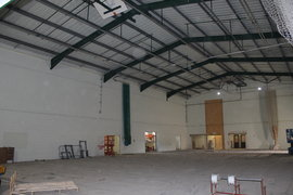 Inside Sports Hall ongoing Mechanical and Electrical work