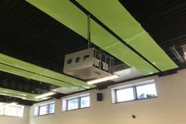 Primary school hall multi-media projector installed