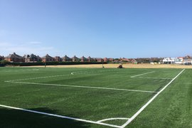 4G pitch laid and complete with fencing to commence on 23 July 2018.