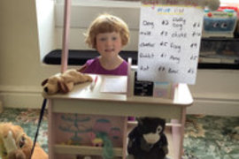 Lily's shop - can you see what she is selling?