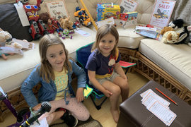 Keira and her sister have set up a great shop!