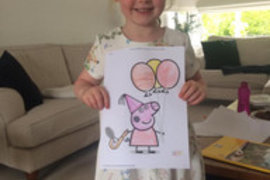 Some more beautiful colouring from Olivia.