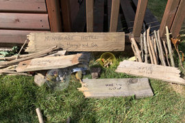 Eva and her brother have been busy in the garden. Has anyone else made a bug hotel?