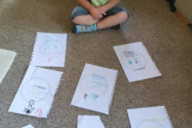 Asher has been busy drawing for his friends and family. He is going to hand them out when this is all over.