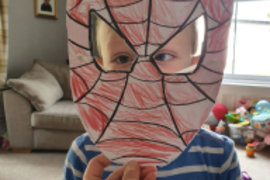 What a wonderful Spider man mask - can you work out who is behind it?