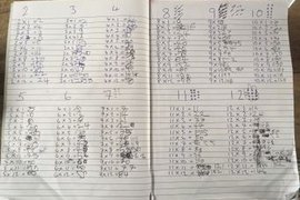 Can anyone guess who's been practising their times tables? I think they must be in year 6 - no it's Charlie!