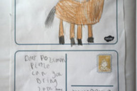 This time Isobel's postcard was from a horse. Keep up the good work Isobel.
