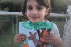 Mahlia really enjoyed colouring her woodland picture and how nice that you can be outside so much.