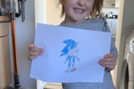 Eva has been busy drawing - check out 'Draw with Rob' on youtube for some tips! Brilliant drawing Eva and an even better smile!