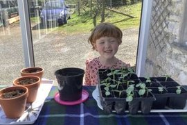Lily has been busy planting too - it will be lovely to watch your plants grow! What do people think Lily is growing?