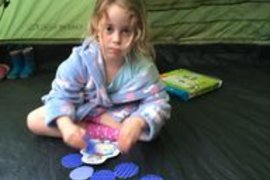 Isobel and her family had a night camping in their garden - great idea guys!