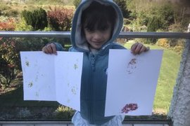 Great work making plant prints Mahlia.