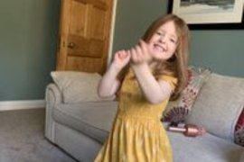 Eva likes to start each day with a dance. Great idea Eva!