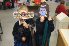 We retold the story of Rama and Sita.