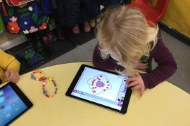 We even made some Rangoli patterns on the ipads and printed them out.