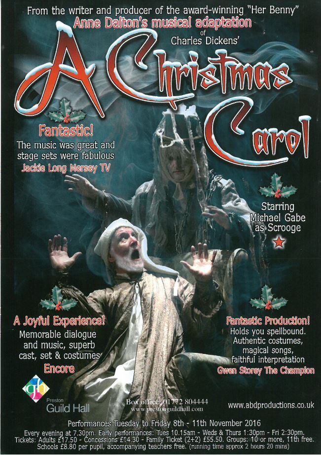 A Christmas Carol Poster.Abbeygail On Stage In A Christmas Carol Balshaw S Church