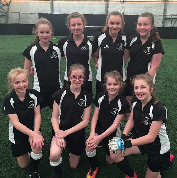year 7 and 8 girls football team