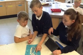 We then had the chance to use our sewing skills
