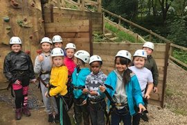 Getting ready to climb the wall