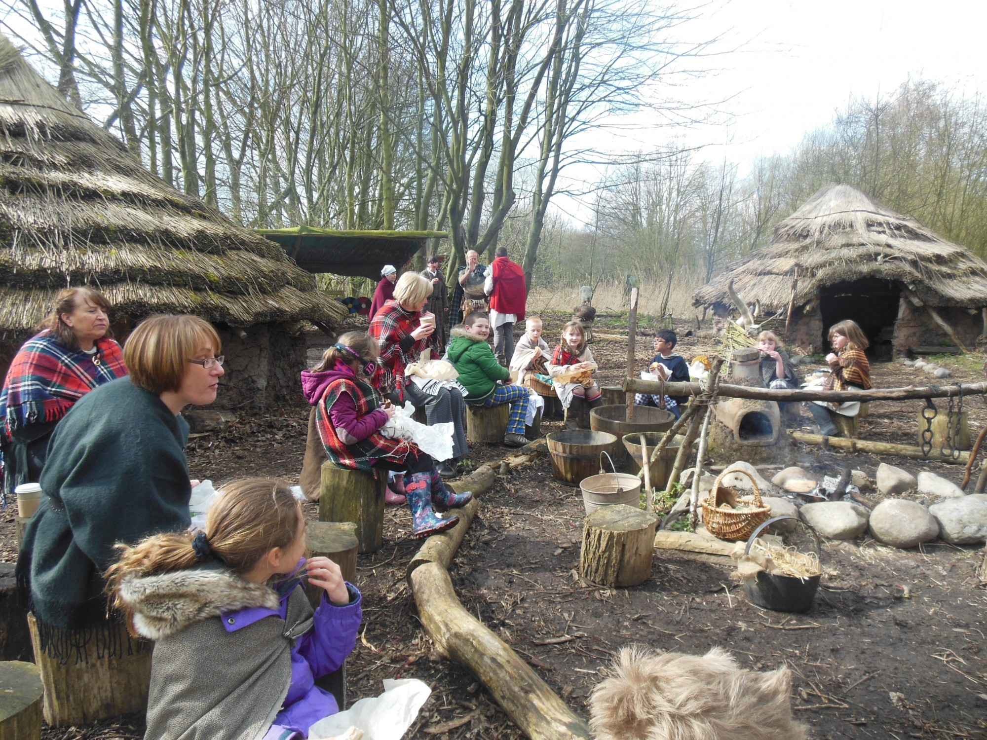 Mere Tun Celtic Roundhouse Village Living History Day