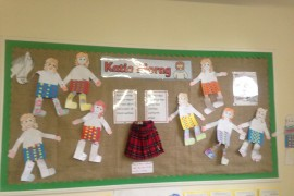 Tiger Class had lots of fun making new kilts for Katie Morag using their paper weaving skills.