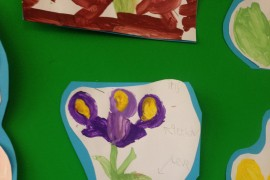 This beautiful iris was carefully painted.