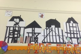Linking Art and Maths! Tiger Class looked for parallel and perpendicular lines in Tudor houses. They used right angle testers and rulers to make accurate right angles and perfect parallel lines.
