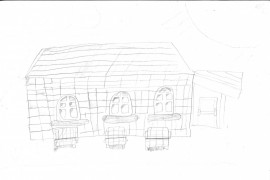 A drawing of our school by child from Panther Class.