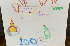 Xavier's card.  It looks like he's got all the ingredients for the perfect birthday party!
