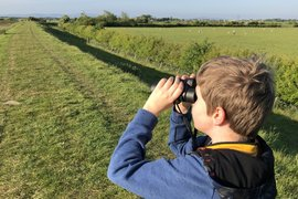 William has started birdwatching - I wonder what he has ticked off his list?!