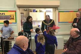 We presented The Mayor with some flowers and a card to thank him for visiting us and carrying out the official opening.