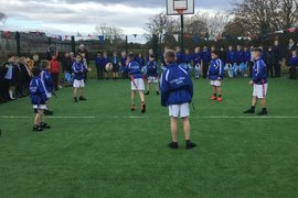 Tag Rugby demonstration on our new artificial pitch and games area.
