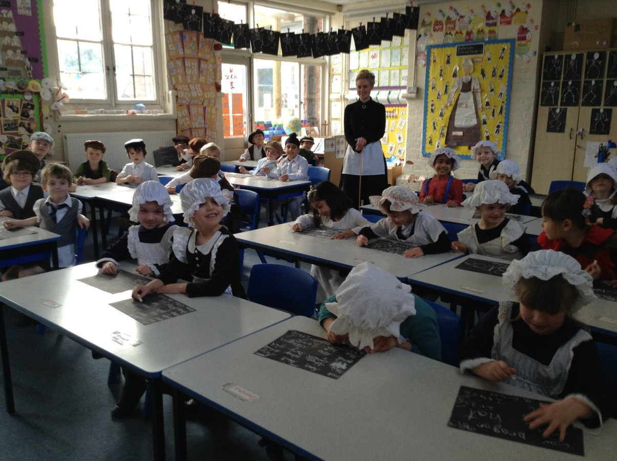 Year One Victorian Day At School Clewer Green Ce First