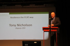 Tony Nicholson, Deputy CEO of FCAT addresses the crowd