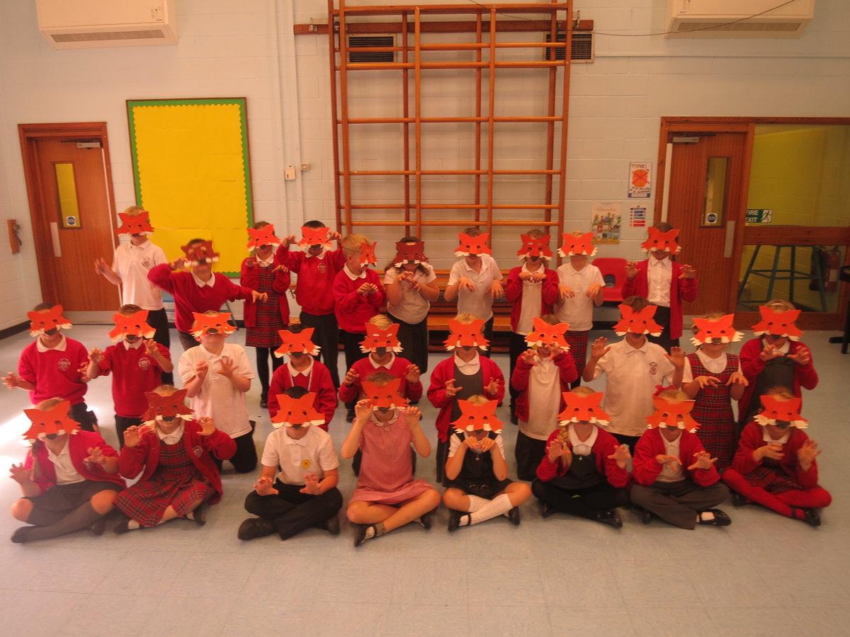 Fantastic Mr Fox Mask Making Gillibrand Primary School