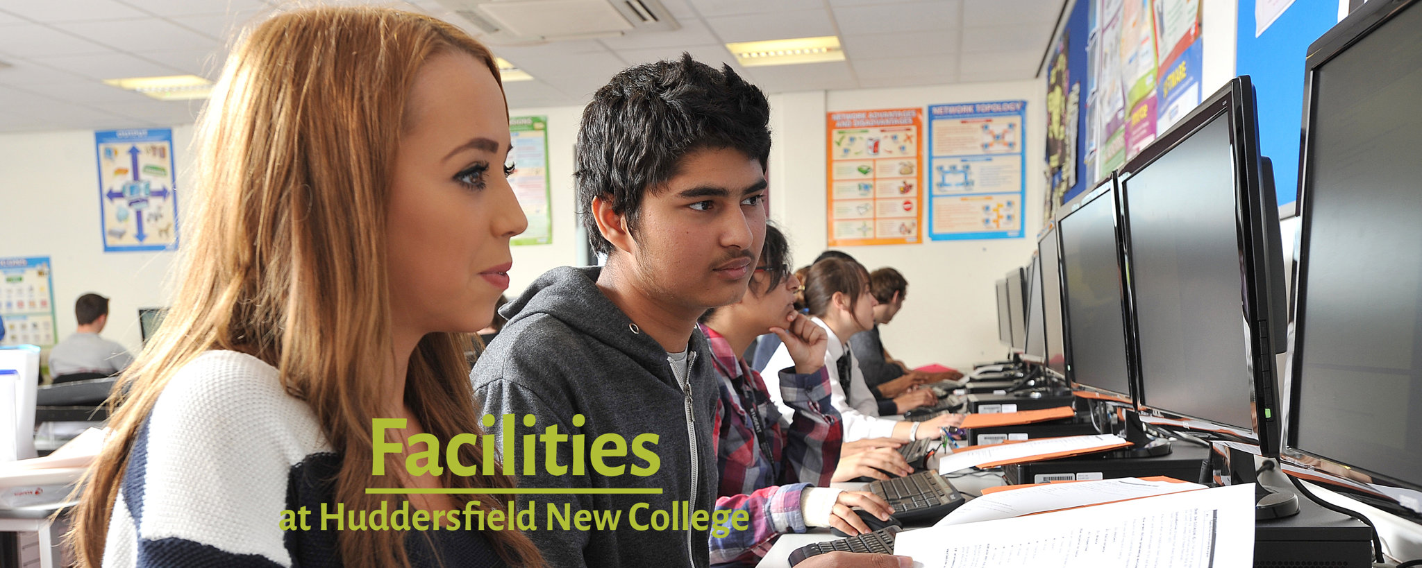 A picture of students using the College's facilities