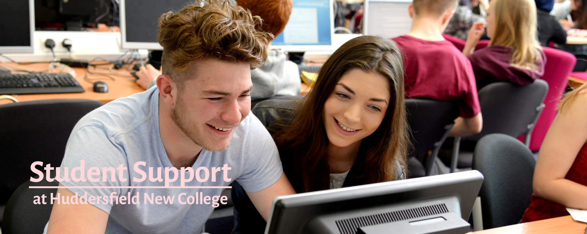 A picture of students using computing facilities at HNC