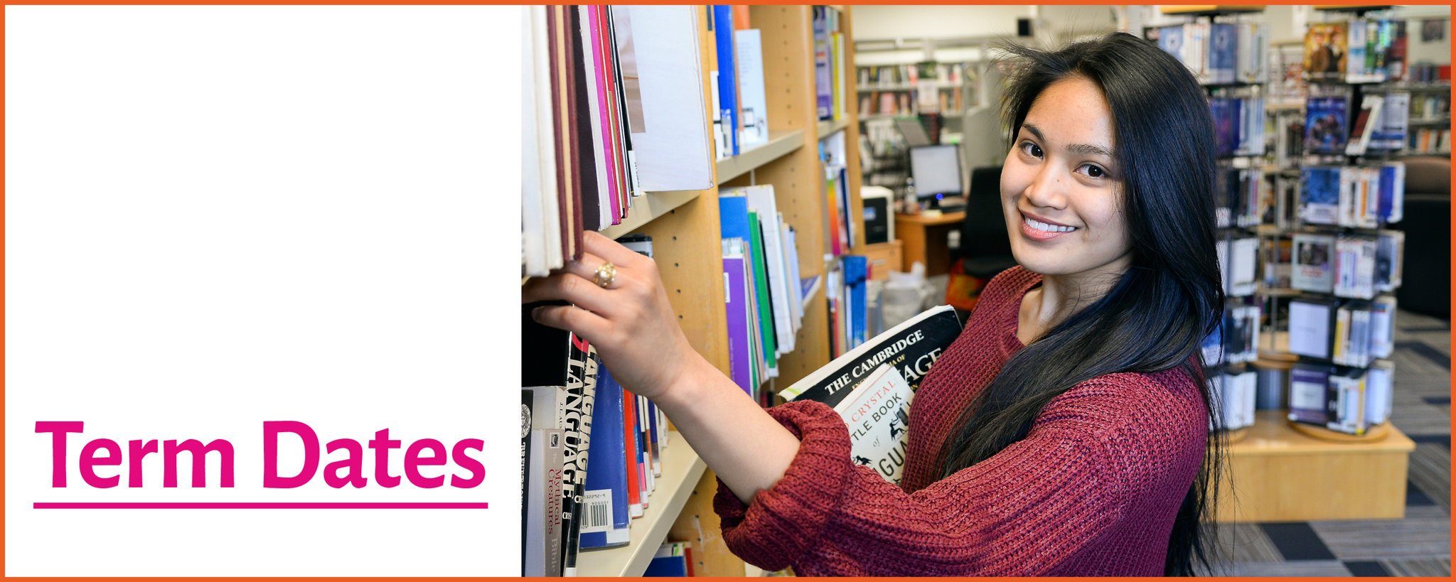 A picture of a student in the HNC library
