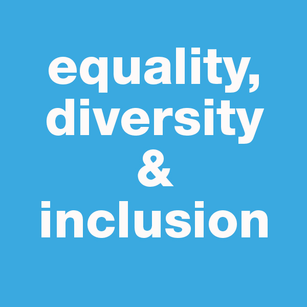 This image is a button linking to a page regarding equality, diversity and inclusion at HNC
