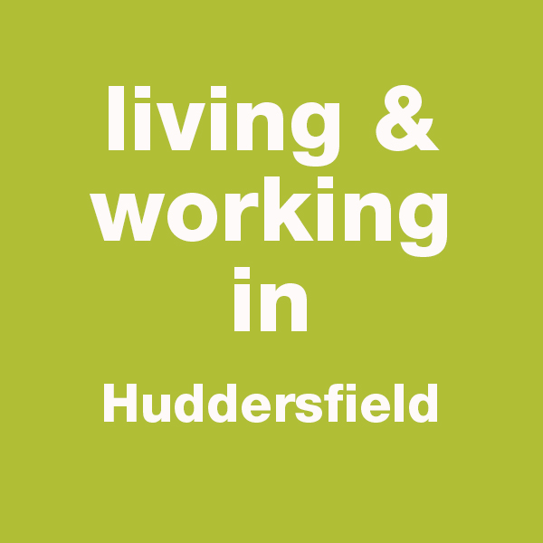 This image is a button linking to a page about living and working in Huddersfield