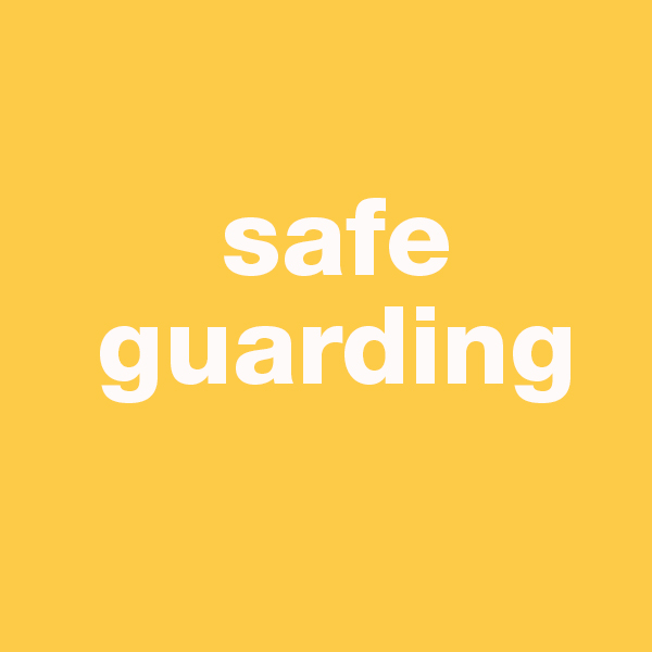This image is a button linking to a page on information about safeguarding