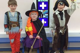 The Pirate Nextdoor, the witch from Room On The Broom and Captain Jack Sparrow.