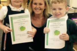 Mrs. O'Brien with our achievement winners from Foundation Stage 2 Birch.