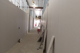 Our first look at a corridor in the secondary sector of the school
