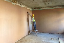 Classrooms begin to be plastered